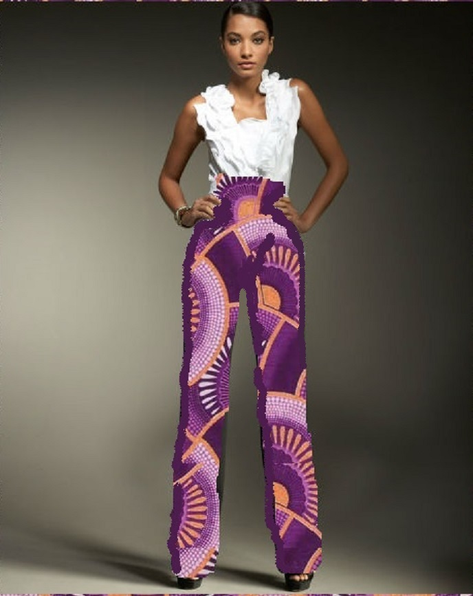 04 - Worldwide Free Shipping - Gorgeous Cotton African Dashiki High Waist Pants