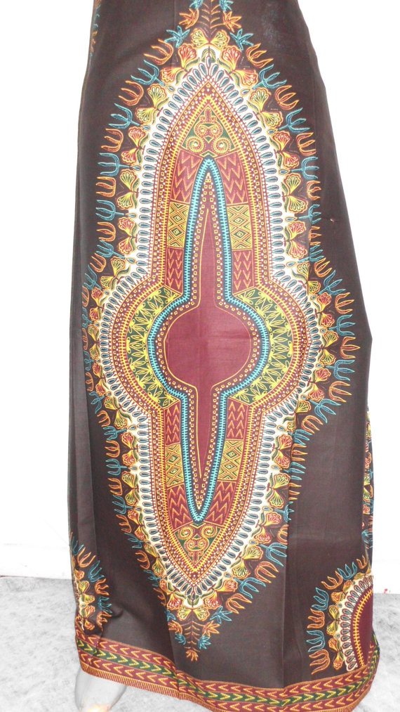Fada Ngourma - Ready to ship - Gorgeous costumisable dashiki african maxi skirt