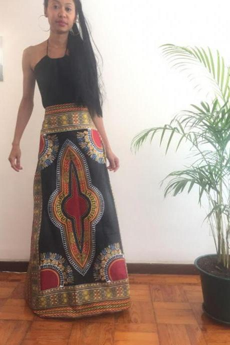 Skirt Full lenght Cotton Angelina dashiki African Ankara print designer Worldwide free shipping