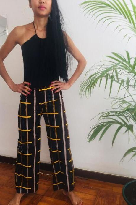 Size S/M Zanzibar Summer Geometric Party Rave Festival Gift Printed Gift cotton dashiki designer pants Worldwide shipping