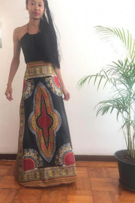 Benin Size M Skirt Full lenght Cotton Angelina dashiki African Ankara print designer Worldwide shipping Worldwide Free Shipping