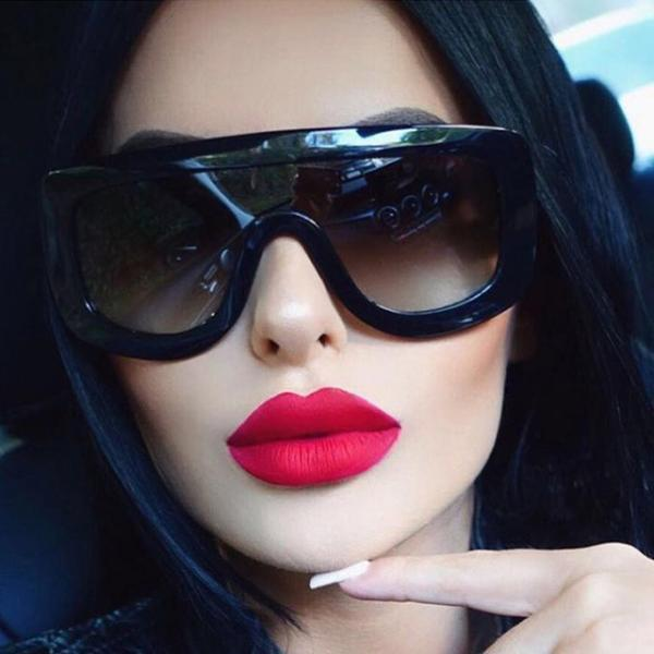 Unique Women Sunglasses Square Glasses Vintage Big Frame Sun Glasses Acetate Shades Gradient Eyeglasses